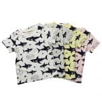 Shark Patterned T-Shirt for Girls