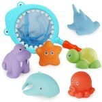 Cute Shark Bath Toys 7 Pcs Set