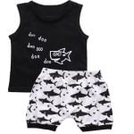 Baby Boy's Sharks Patterned Clothing Set